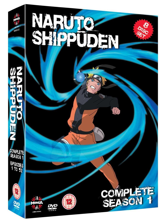 Naruto Shippuden Series 1 DVD 2007 Reino Unido Series