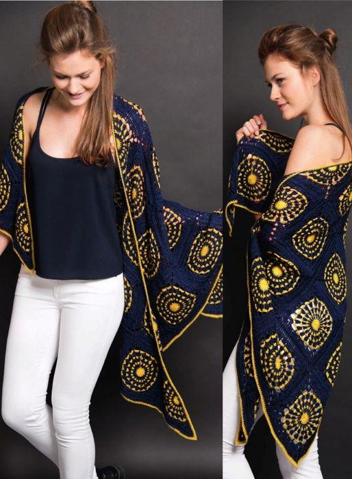 Crochet Shawl Mandala + Diagrams #shawlcrochetpattern