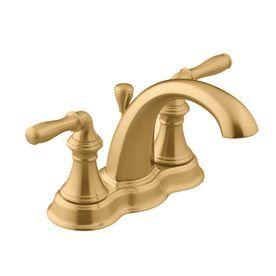 KOHLER Devonshire Vibrant Brushed Bronze Handle In Centerset - Bathroom sink faucet drain assembly