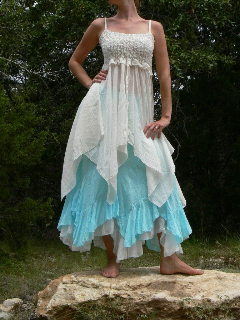 GYPSY BOHO Renaissance Dress Shirt Pixie Hippie Frill Front Fairy ...