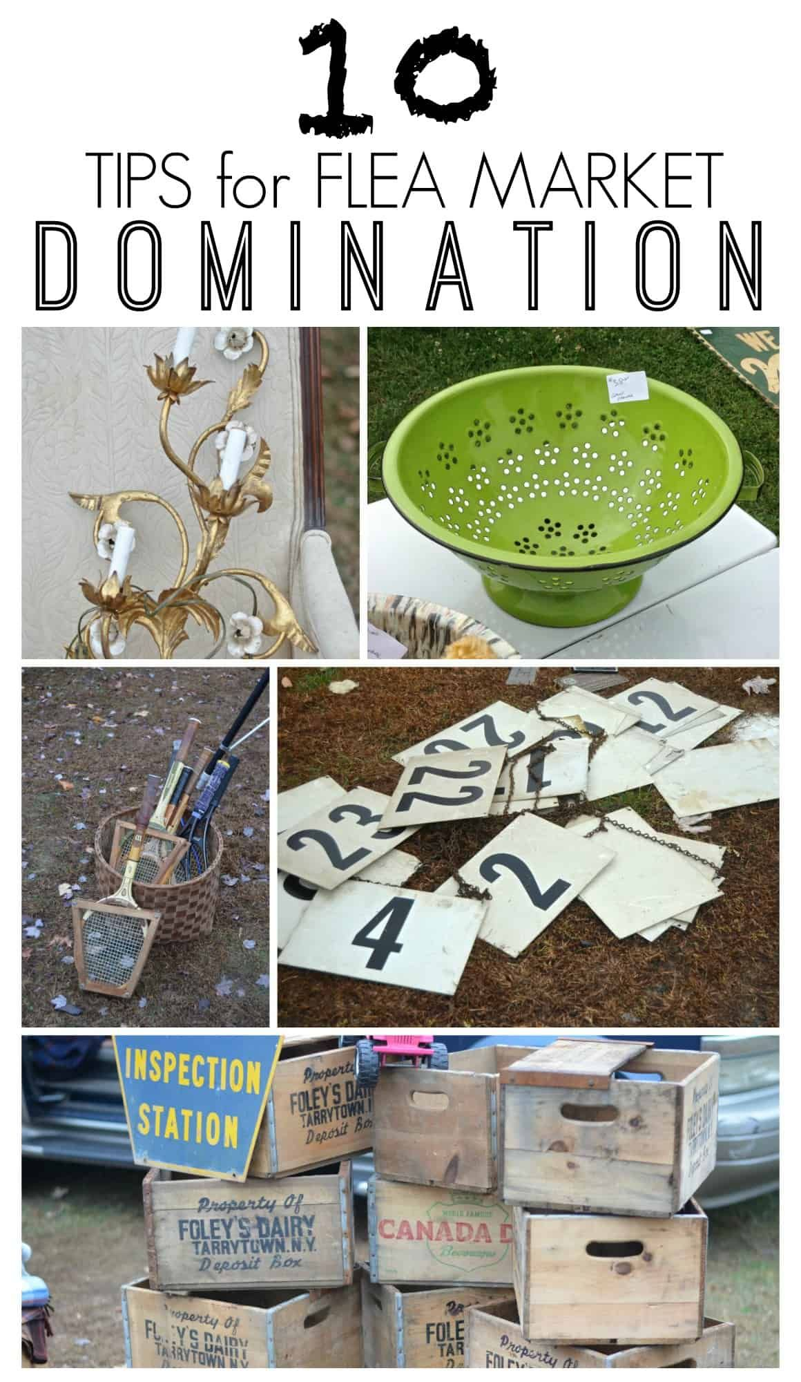 Tips For Flea Market Domination