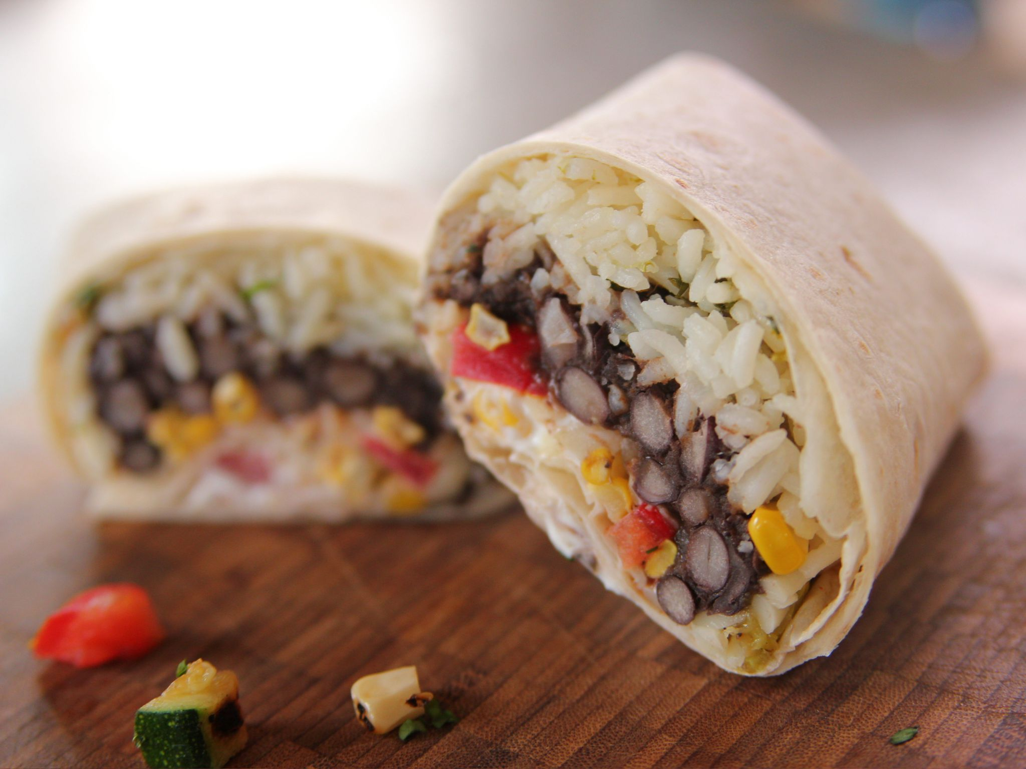 Grilled Veggie Burritos   Rezept