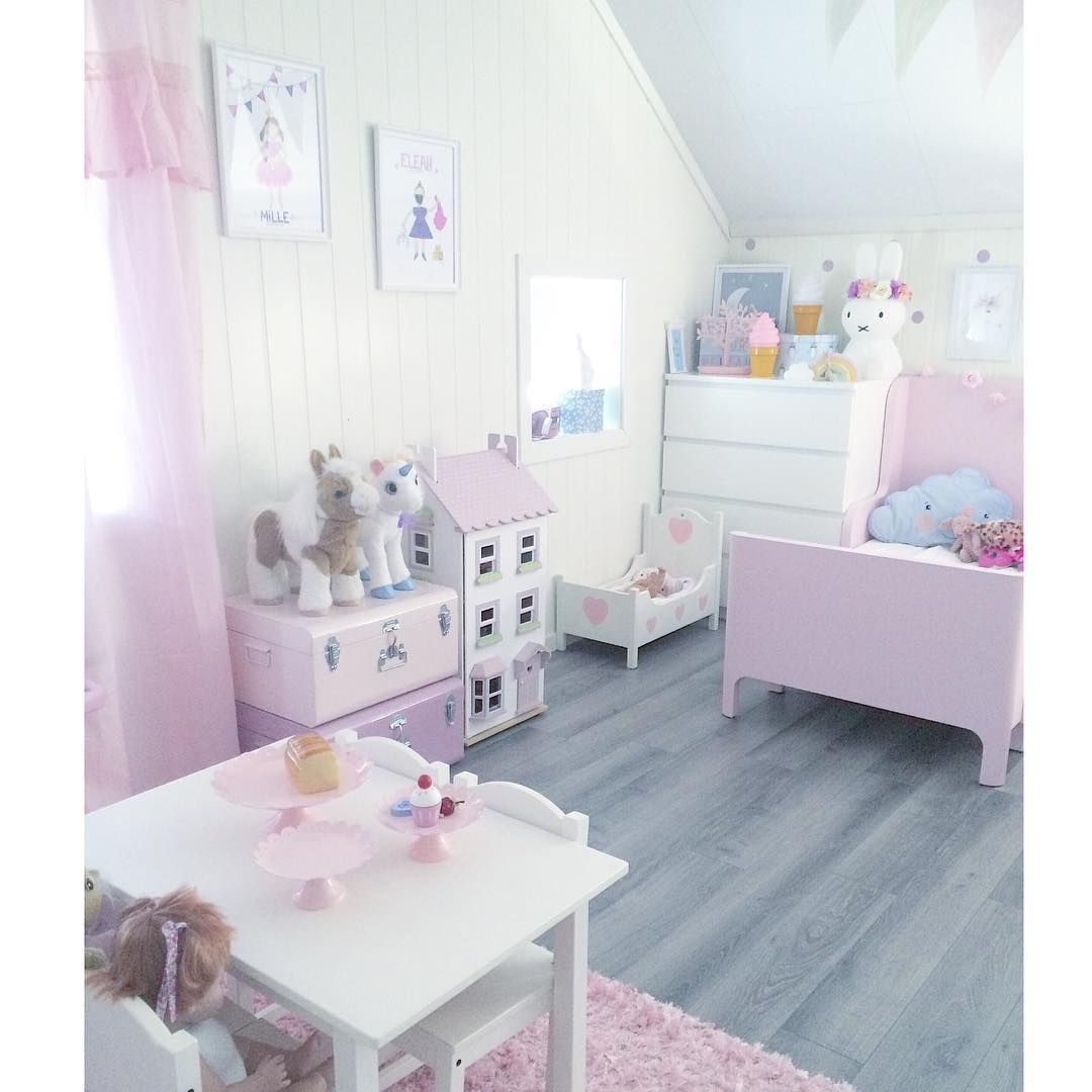 Pastel Colors Kids Room: Pretty Pastel Room For A Little Girl #barnerom #dukkehus
