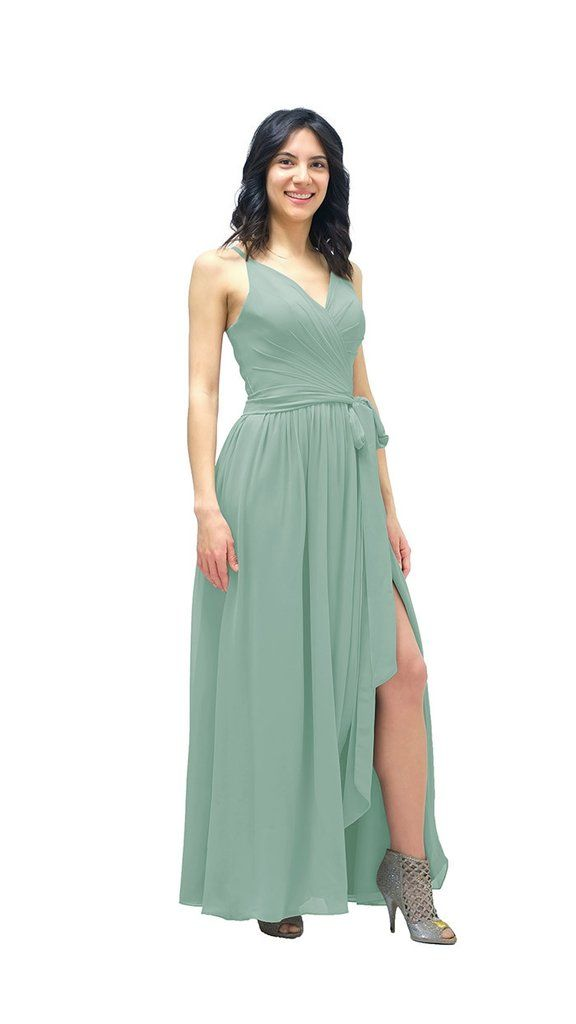 062d51eca65 Leia Chiffon Bridesmaid Dress - pastel dress