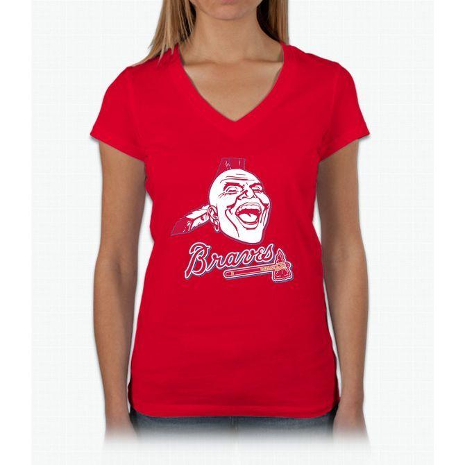 Chief Knockahoma Womens V-Neck T-Shirt