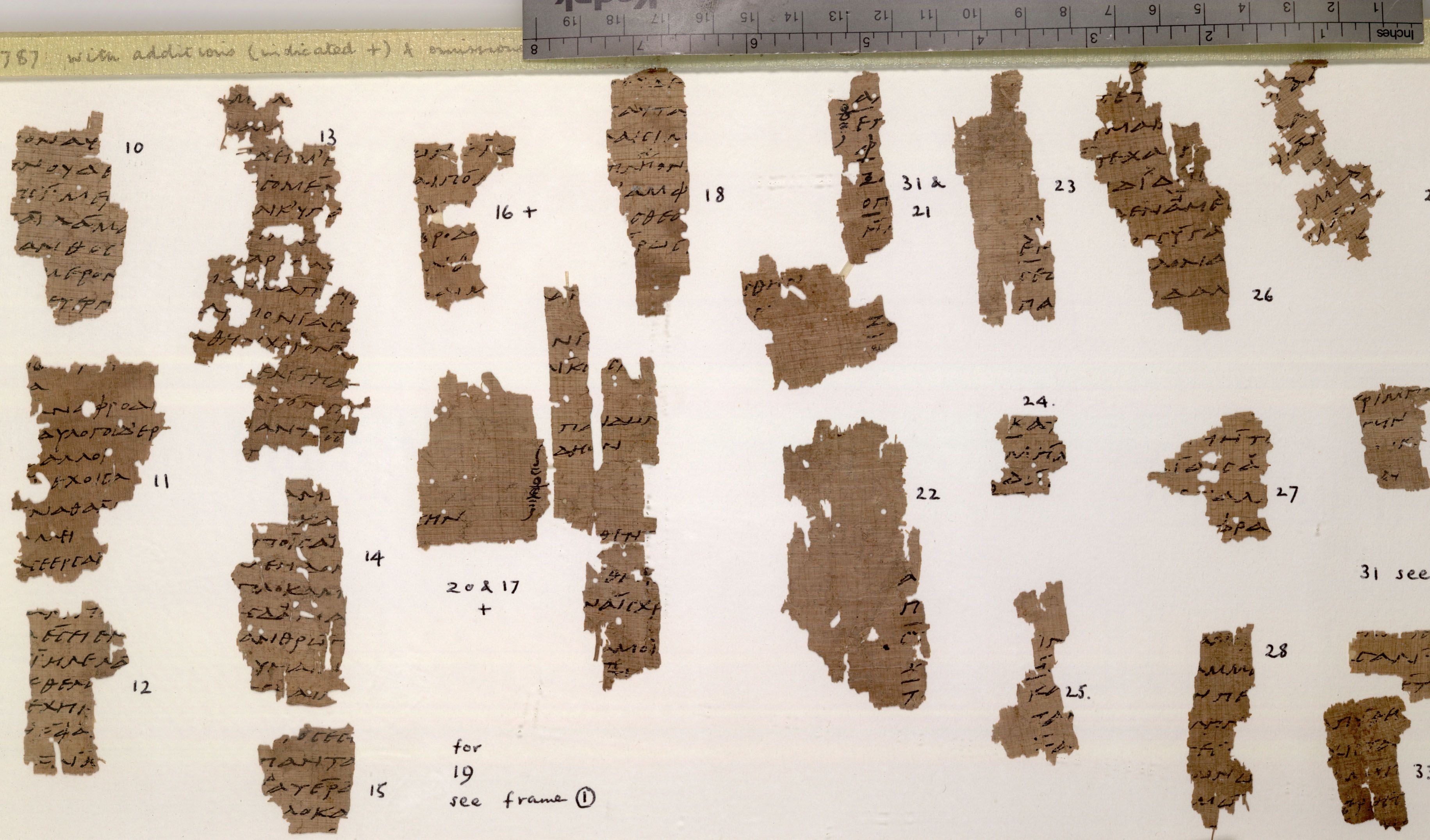 papyrus fragments, poetry by sappho (615 - 550 b.c.)