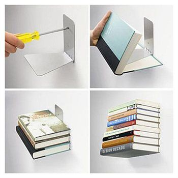 Floating Bookshelves For the love of book nerds I this Stuff I