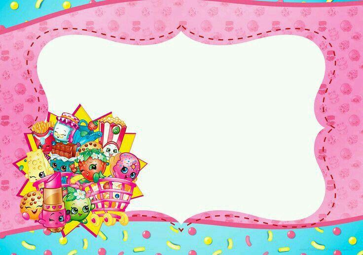 Te Invito A Mi Fiesa Invitaciones De Shopkins Shopkins