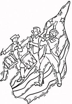 colonial america and revolutionary war coloring pages free - American Revolution Coloring Pages