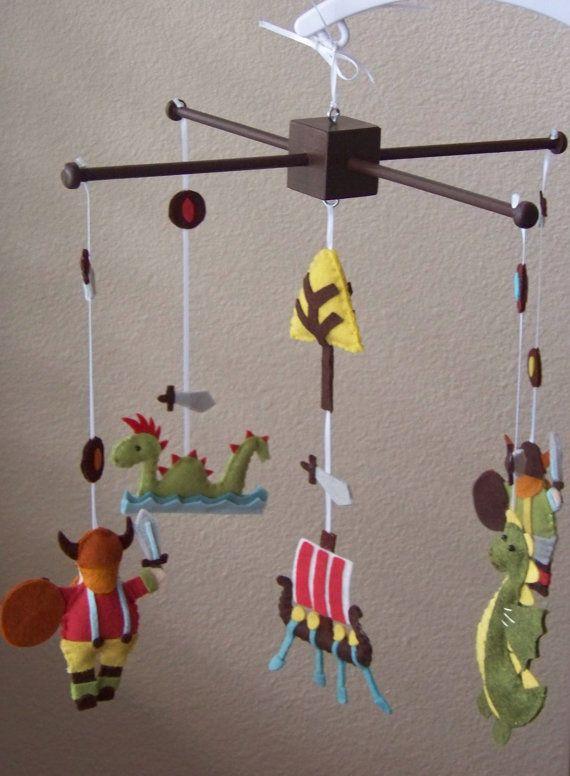 Viking Baby Bedroom: Baby Mobile Baby Crib Mobile Viking Mobile By Lollipopmoon