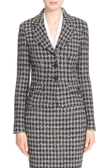 c39da52ab84af Free shipping and returns on St. John Collection  Anissa  Houndstooth Knit  Jacket at Nordstrom.com. Curvy