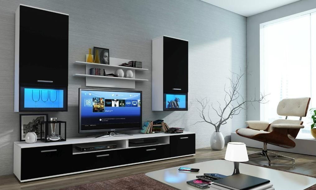 Beautiful Lcd Tv Cabinet Design And Flower Vase Id964 Lcd Tv Cabinet Designs Furniture Design Living Room Wall Units Fancy Living Rooms Living Room Tv Wall