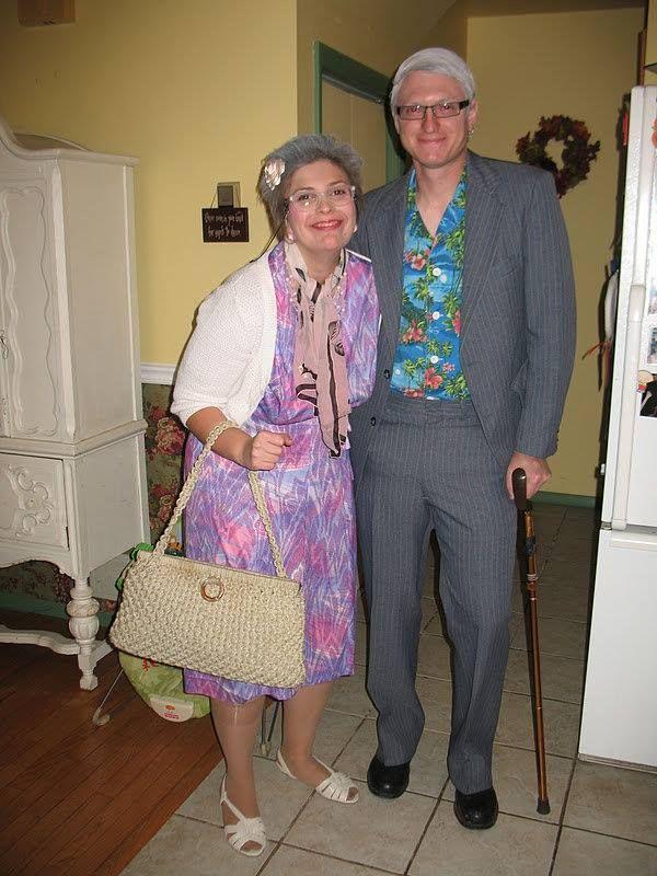 Old couple Halloween costume Costumes Pinterest Couple - good couples halloween costume ideas