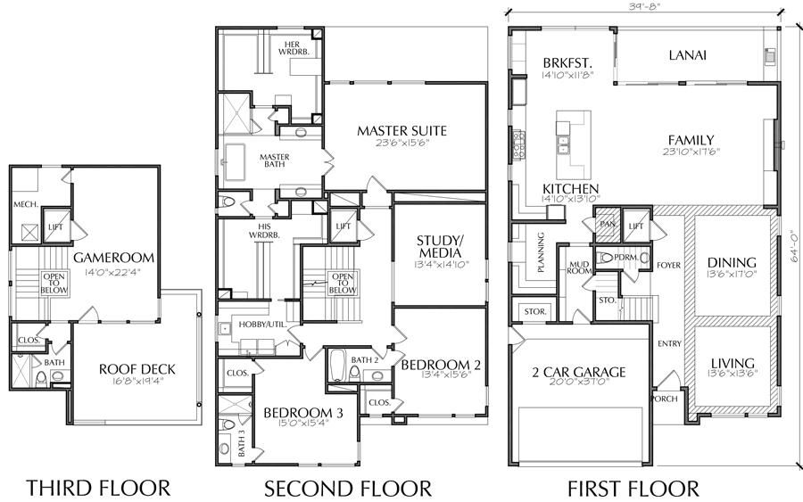 2 1 2 Story Urban House Plan E3376 Two Story House Plans House Plans How To Plan