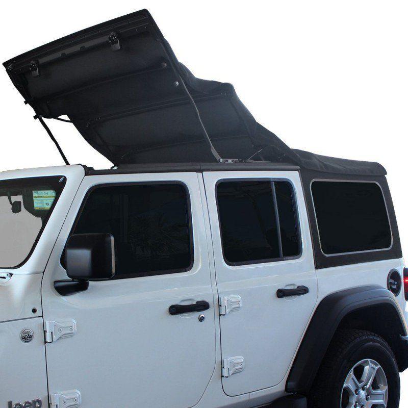 Mopar Sunrider Design Soft Top Kit 4 Door Black Premium White