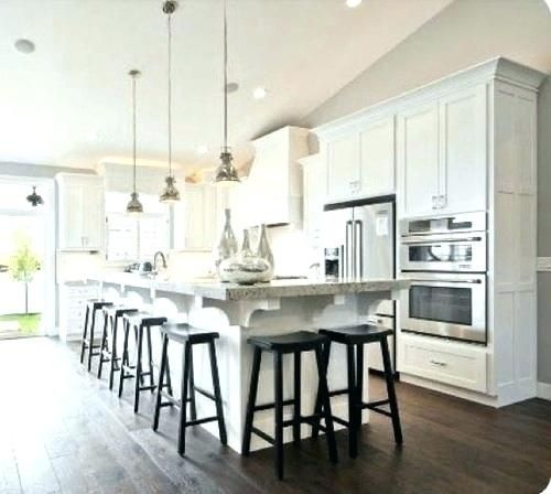 narrow kitchen with island seating kitchen island table in favor of