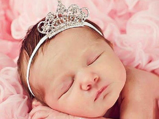 Baby Girl Princess Tiara Pearl Crystal Crown Headband Hair Band OhVWw born9