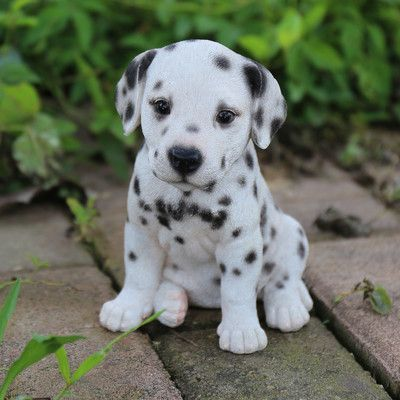 Hi Line Gift Ltd Dalmatian Puppy Statue Cute Baby Animals Cute
