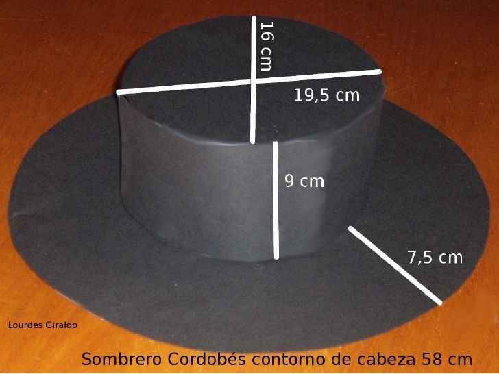 c5cf2c29d95a4 Resultado de imagen de sombrero cordobes casero