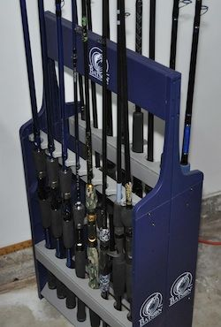 Fishing poles storage ideas jig sticks and the rods for Fishing rod storage ideas
