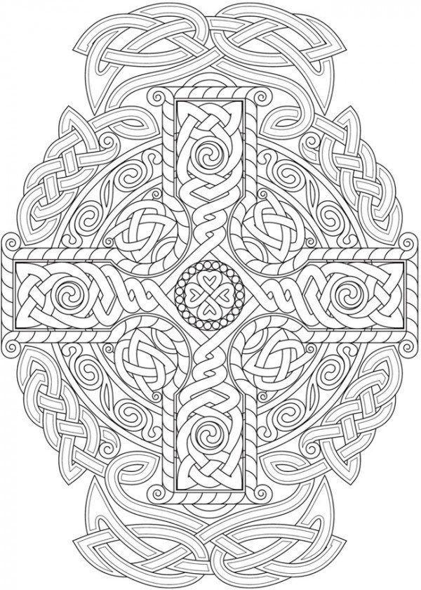 6 Celtic Knots Coloring Pages Celtic Coloring Mandala Coloring Pages Cross Coloring Page