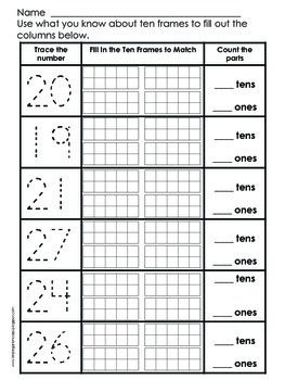 Place Value Practice - Numbers 11 to 29 - Freebie - Students use ...