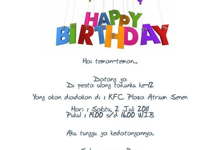 contoh invitation birthday free party invitations invitation birthday