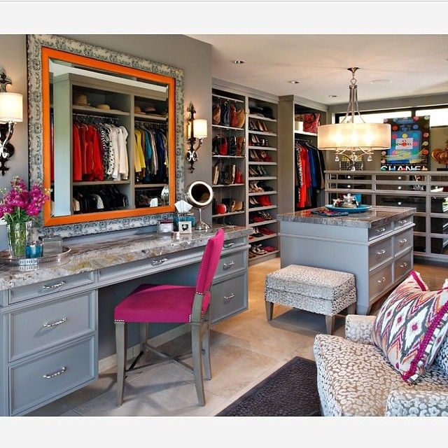 Grey Walk In Closet