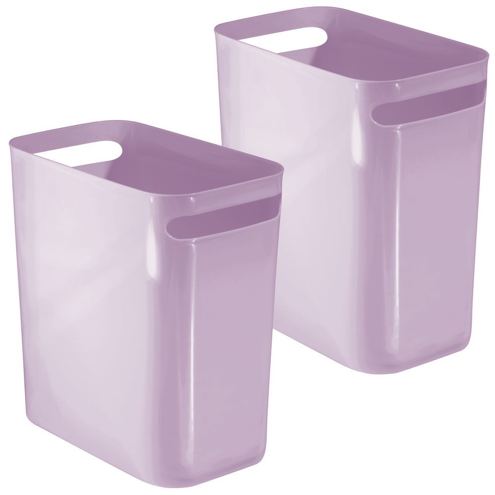 Small Plastic Slim Trash Can 12 High Pack Of 2 In 2020