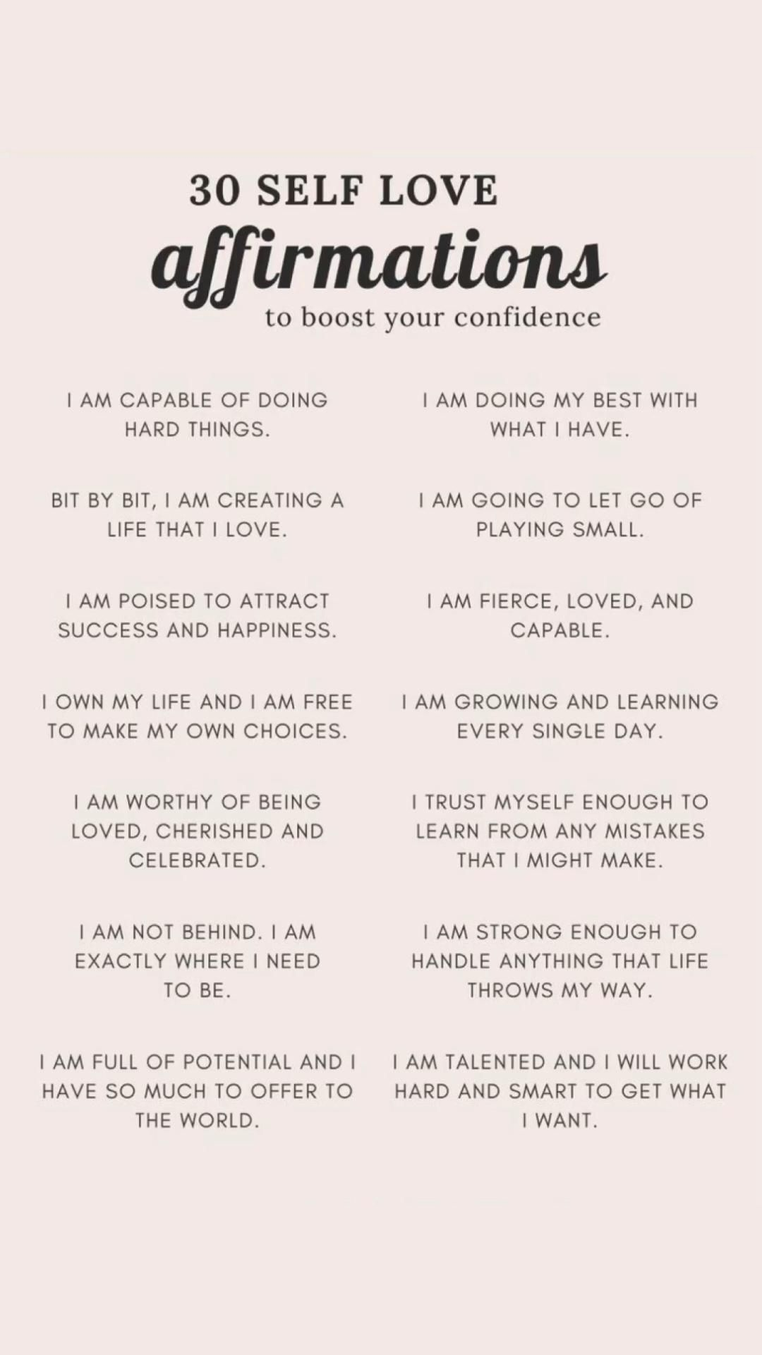 Affirmations for Self Love // Follow for more affirmations, mental health & asmr ❤️