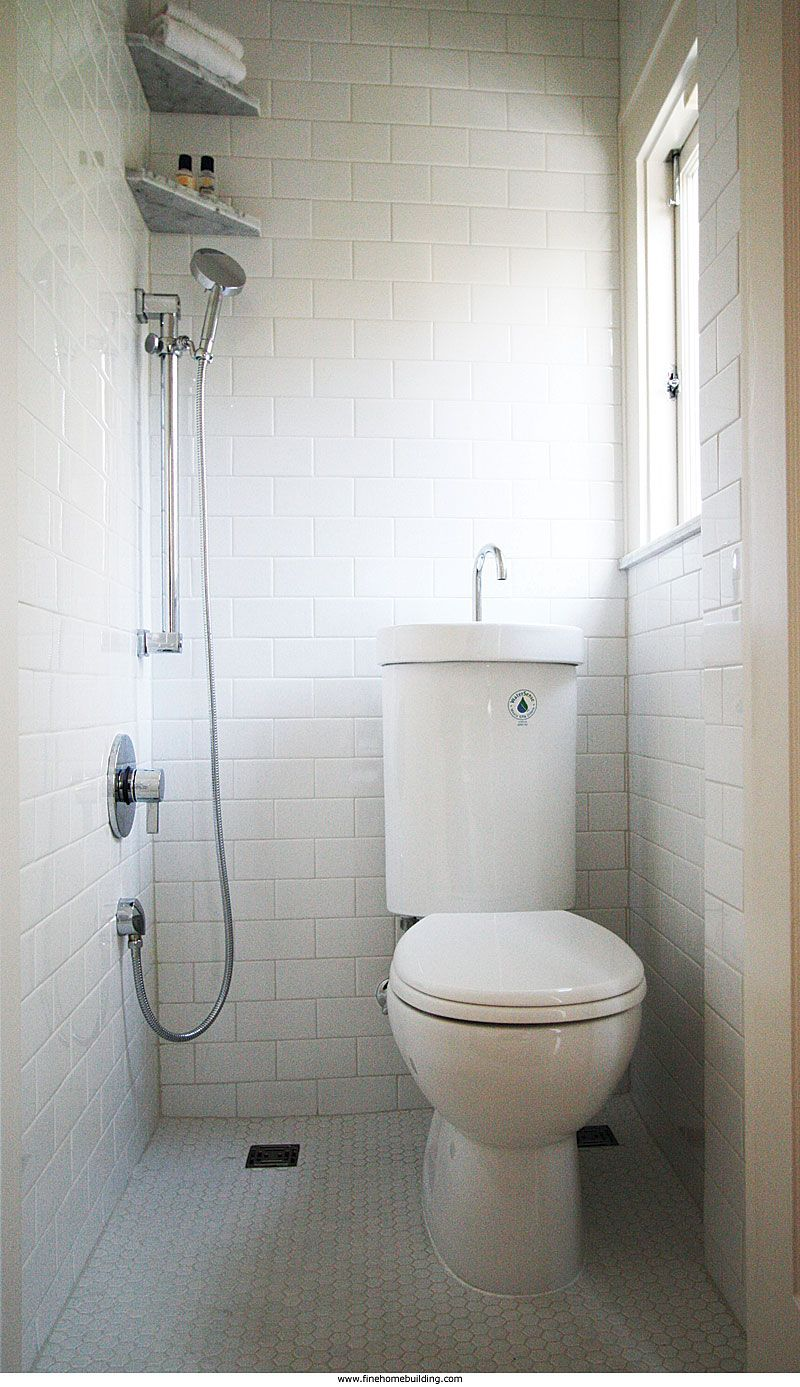 Ingenious Solutions To Common Design Problemsa 3 4 Bath In 9 Square Feet Of Space