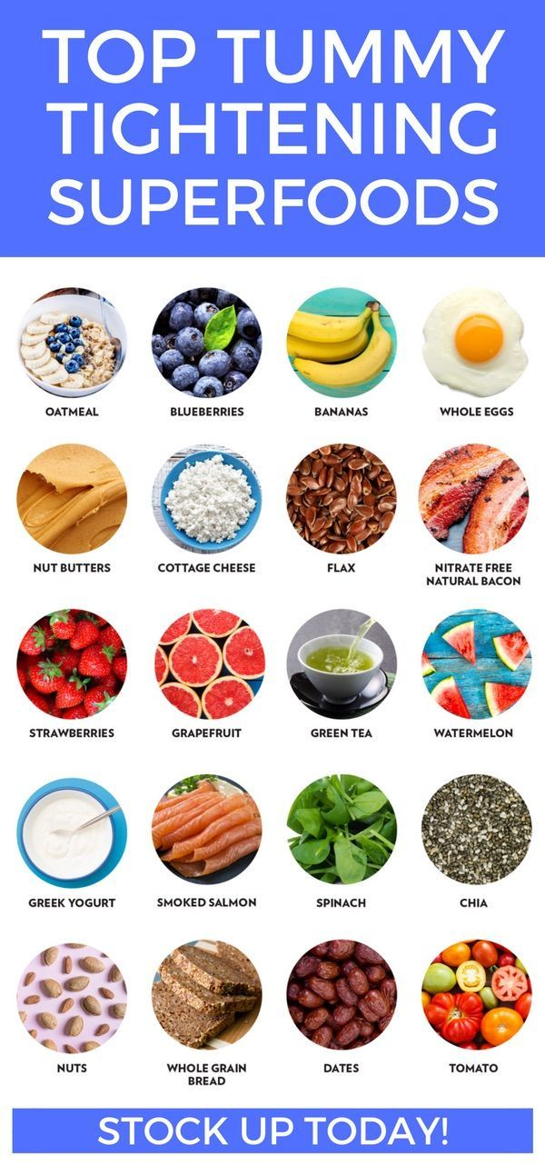 Some good foods to help tighten that tummy! Add these to