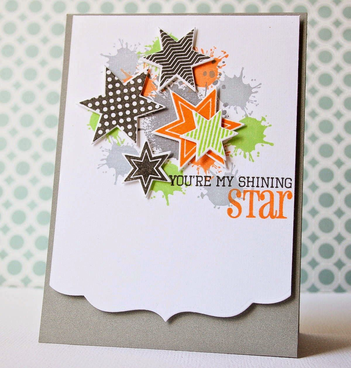I Scrap My Way Shining Star Star Cards Paper Cards Stamped Cards