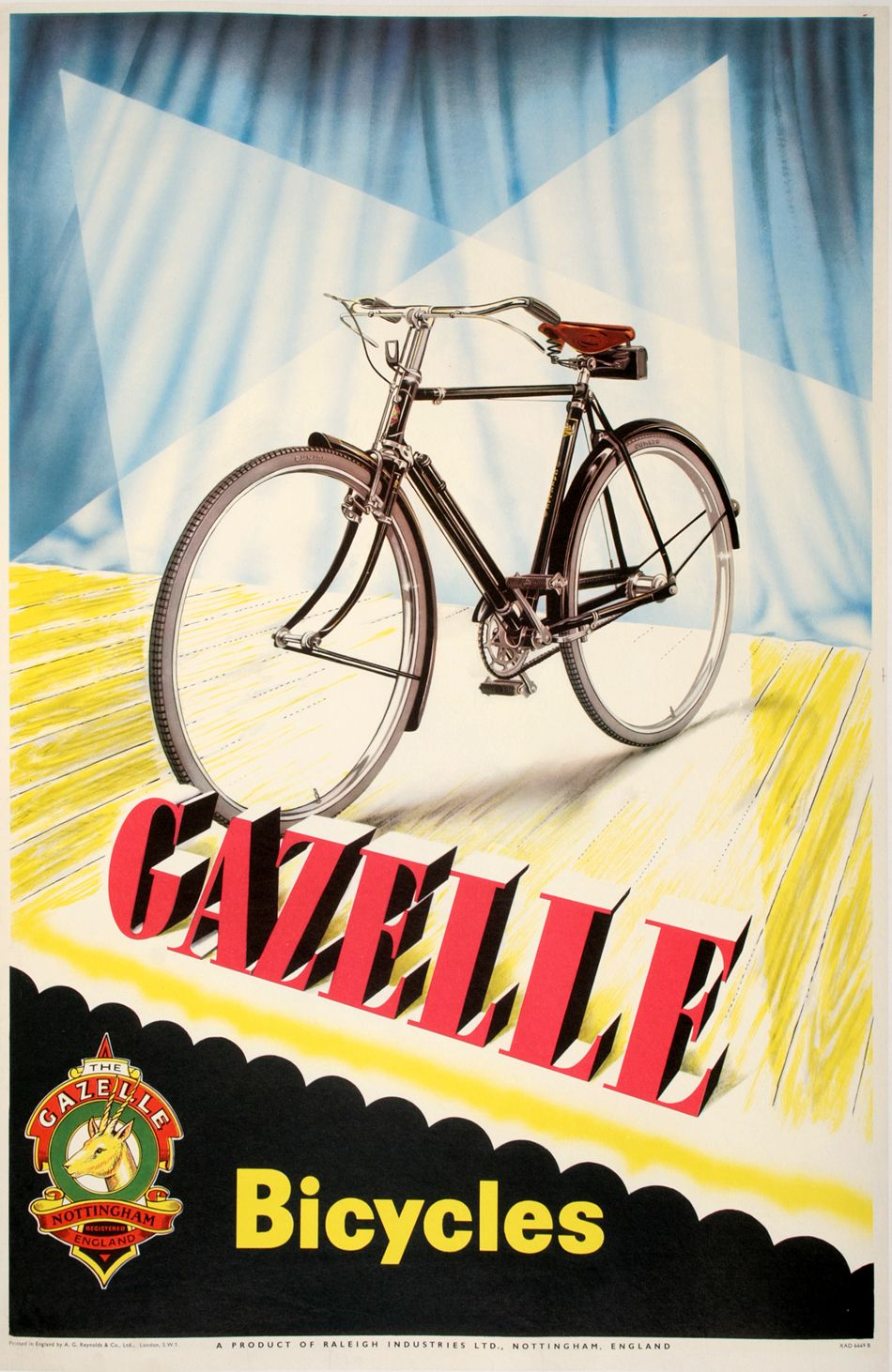 Gazelle Bicycles On The Stage By Anonymous In 2020 Cycling Posters Bicycle Art Bicycle