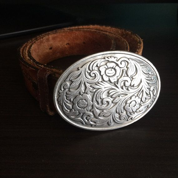 Made in USA Western Belt Buckle  Floral South by VManifesto, $29.00