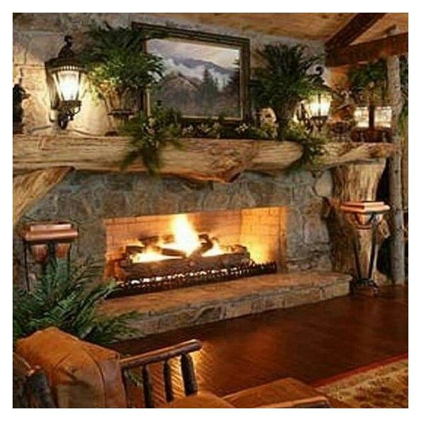 Country Fireplace ❤ Liked On Polyvore Featuring Home, Home Decor, Fireplace  Accessories, Farmhouse