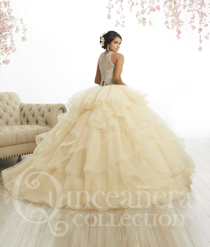 b4d5fe77667 Two-Piece Crop Top Quinceanera Dress by House of Wu 26882-House of Wu-ABC  Fashion