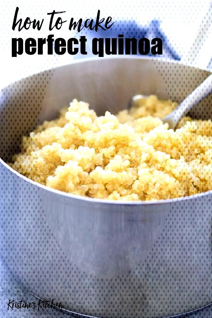 How to cook perfect fluffy quinoa on the stove top and in the Instant Pot. Quinoa is quick and easy