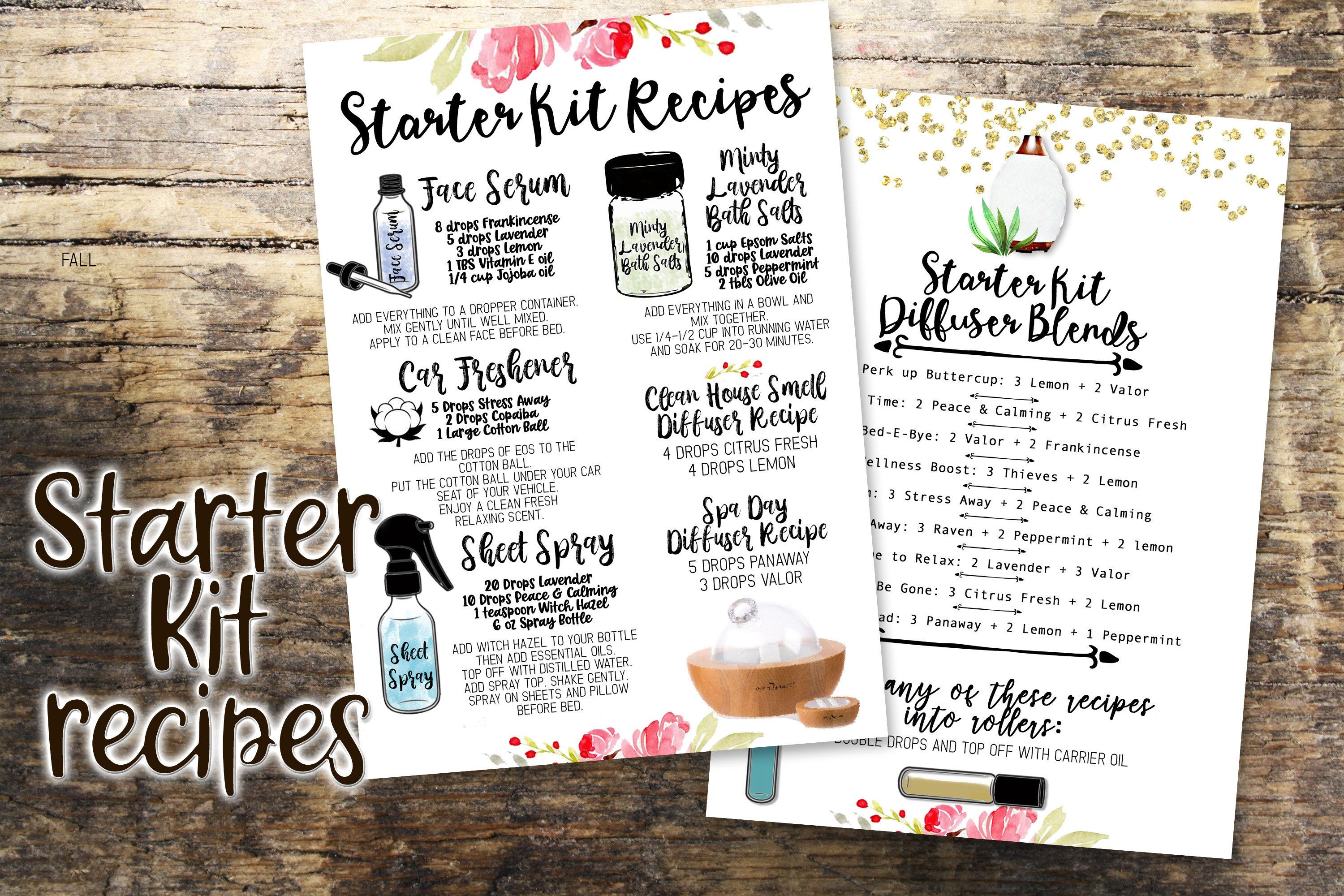 Young Living Starter Kit recipes Essential Oil Recipe