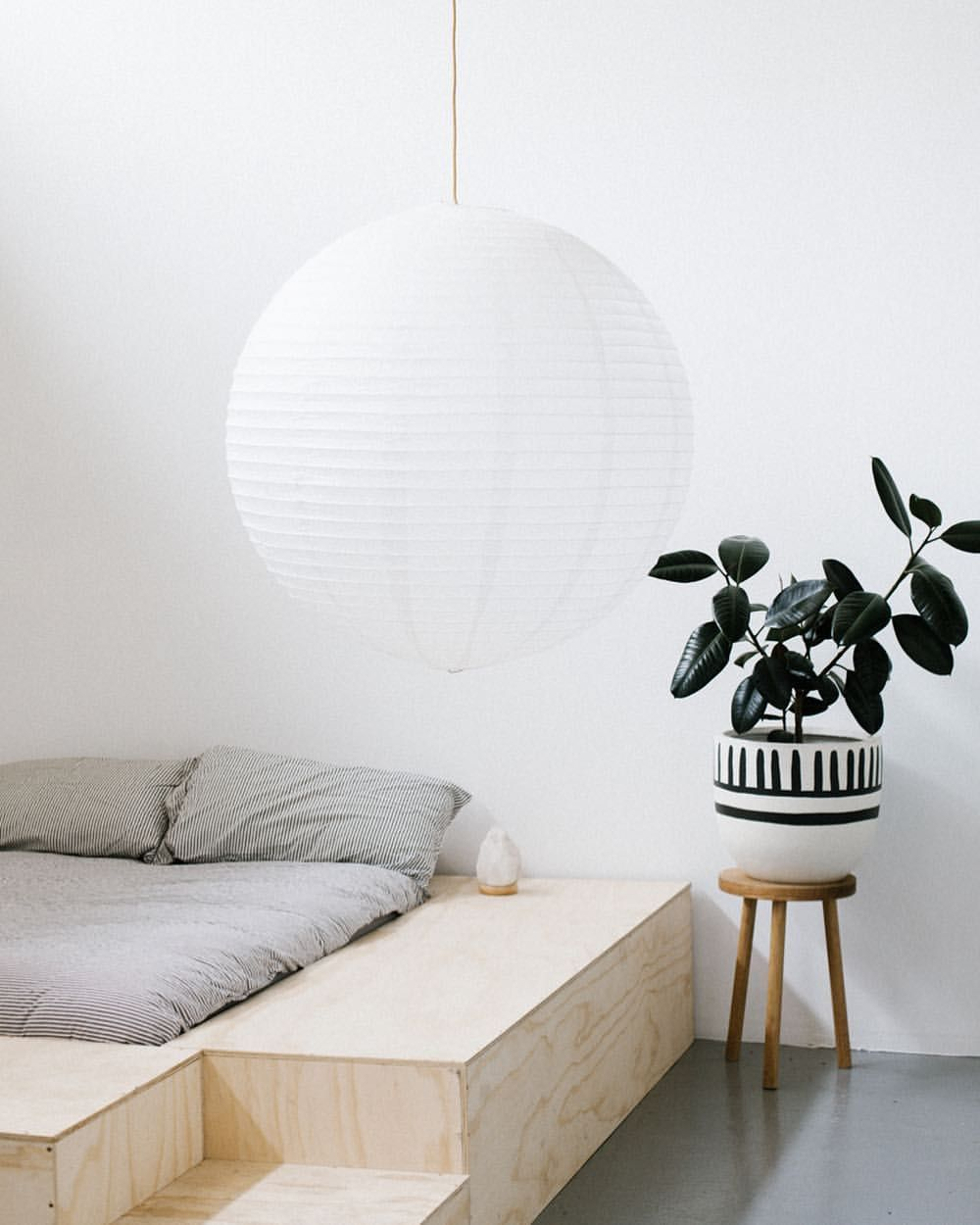 Paper Lanterns Melbourne Our Mali Pot Drum Stool And Paper Lantern Fullmoonvibes Shot By