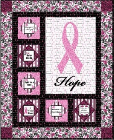 Hope Pink Ribbon Breast Cancer Quilt Quilts Breast