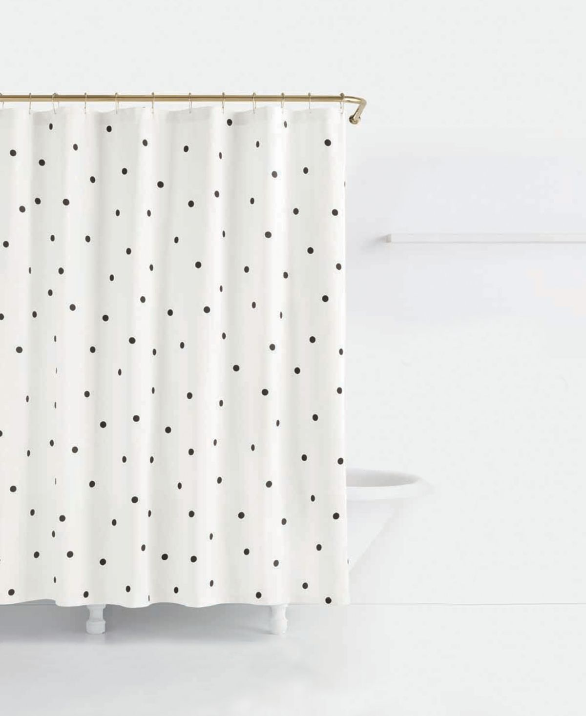 Kate Spade New York Deco Cotton Dot Print Shower Curtain Deco