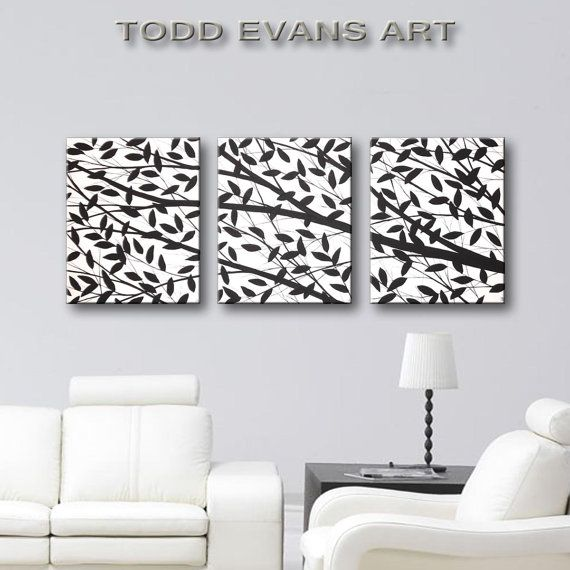 Black U0026 White Wall Art, Canvas Art Home Decor, Hand Painted Original Canvas  Painting