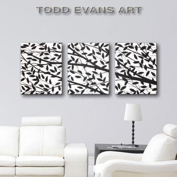 Black White Wall Art Canvas Art Home Decor Hand