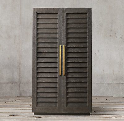 Shutter Double Door Cabinet Small Living Room Chairs Room Luxury Living