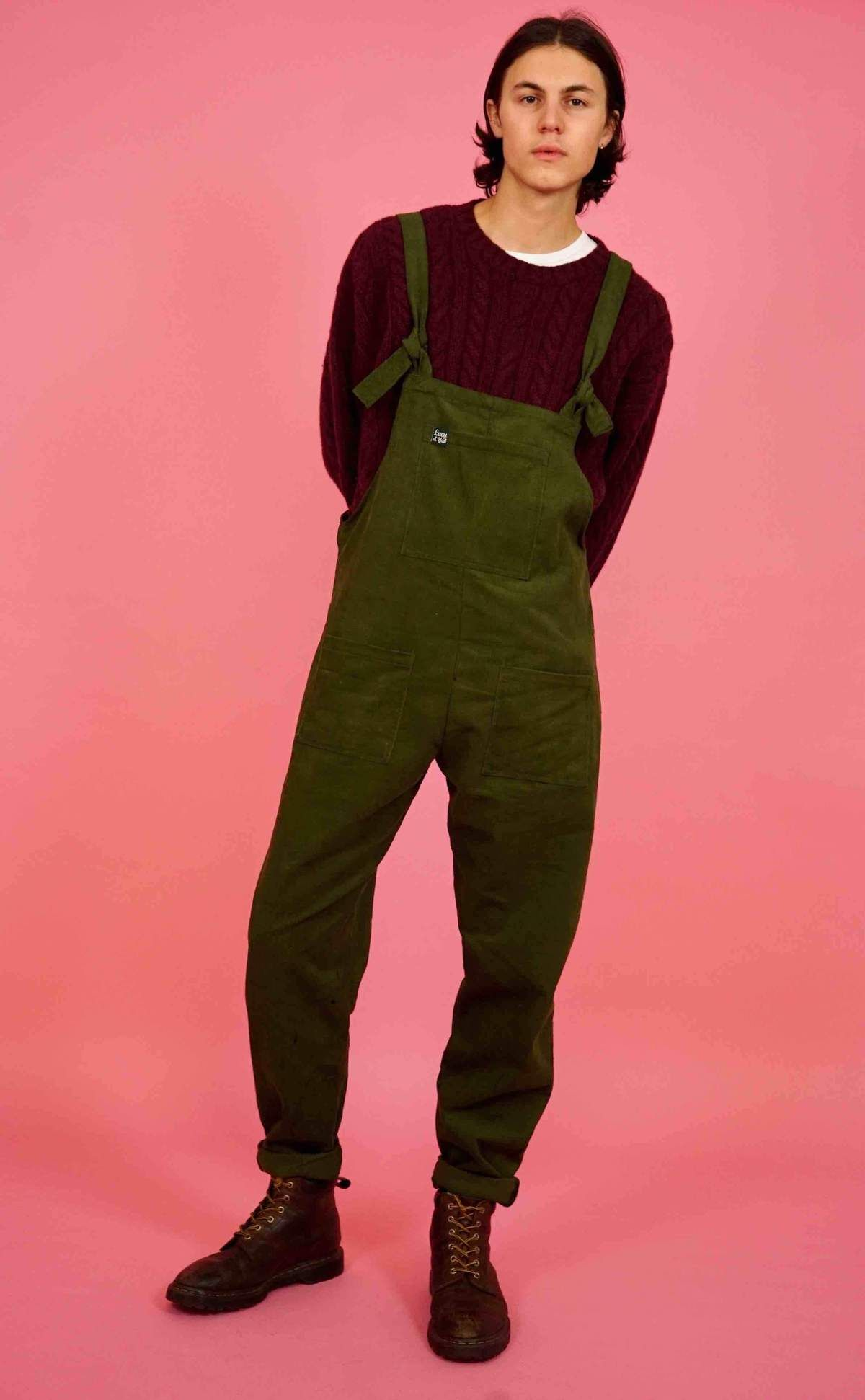 choose original good service outlet store sale Mens 'The Original' Corduroy Dungarees in Moss Green | Guys ...