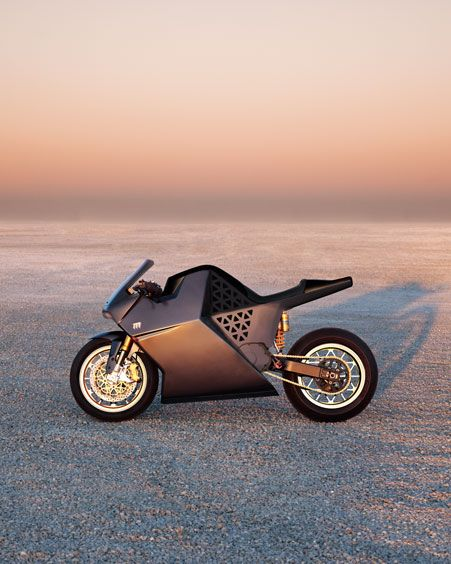 """World's Fastest Electric Motorcycle  The clean, pure ride you've been waiting for is here, with 150 mph of quiet, gorgeous power. Say """"Hi"""" to the Mission One, the world's fastest electric sport bike. Crank it up to 150 with an amazing 100 ft-lbs. of instantaneous torque at every speed. With zero carbon emissions, the ear-splitting tailpipes and planet-killing exhaust are history.  Its liquid-cooled AC induction motor and single-gear transmission also eliminate the distraction of shifting…"""