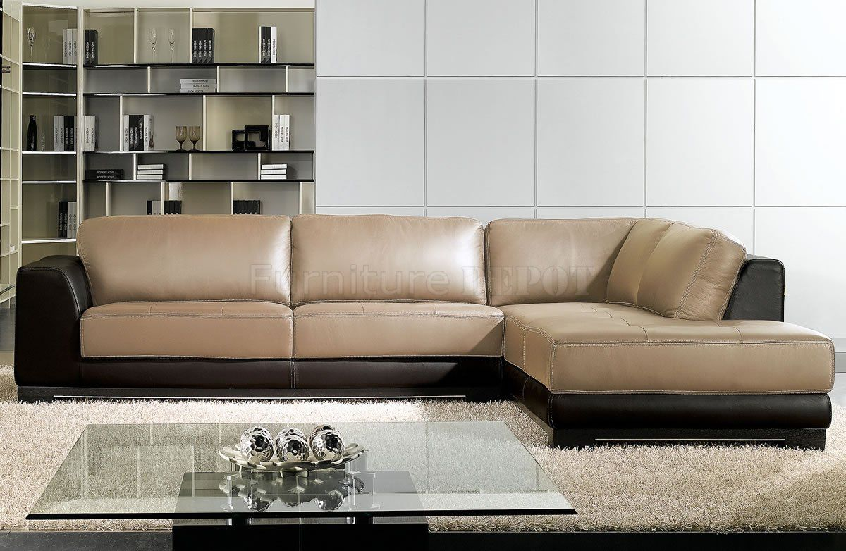 Sofas Leder Two Tone Leather Sofa - Google Search | Airstream