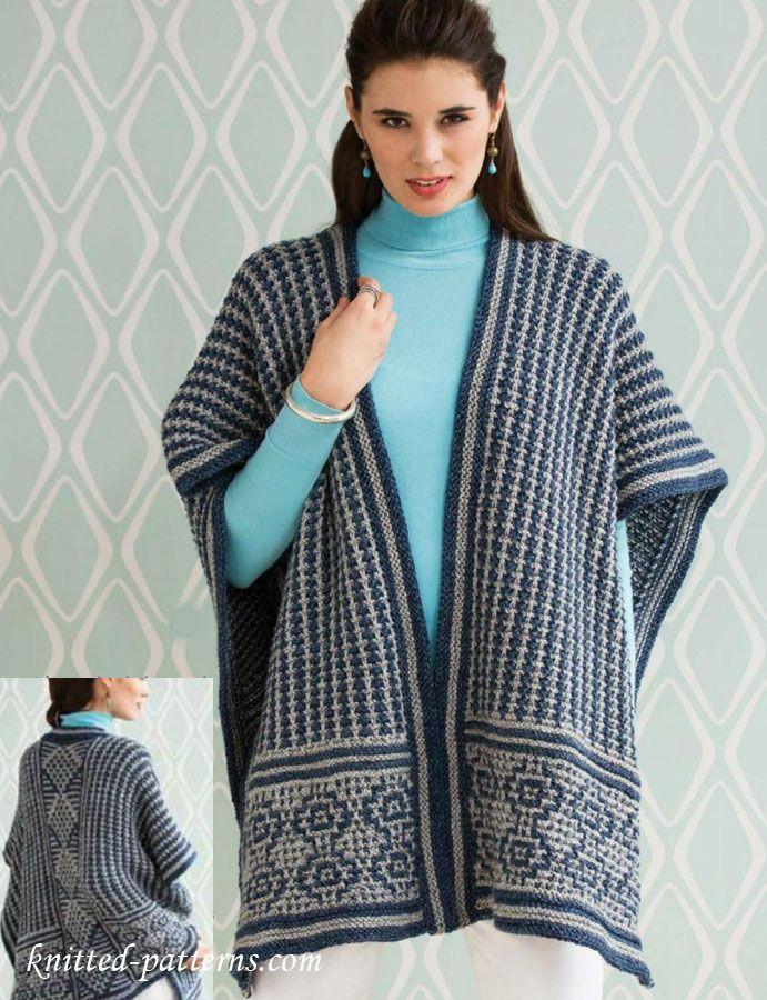 Poncho knitting pattern free   Accessori maglia   Pinterest ...