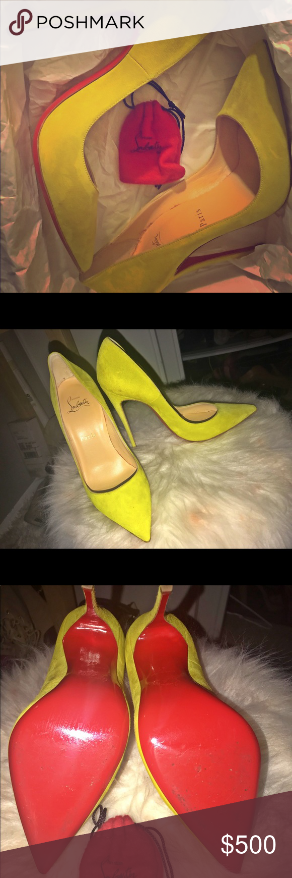 167b4ae7a45 So Kate So Kate 120 Yellow velour. Wore shoe once which explains the ...